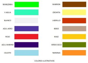 sabanas ajustables carta de colores