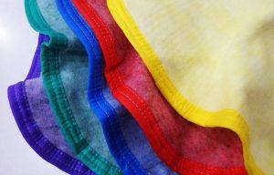 frazada economica con ribete de colores