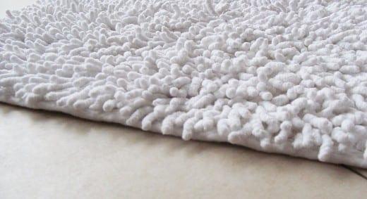 alfombra shaggy cloud blanco