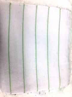 repasador blanco de algodon rayado premium