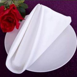 servilletas blancas de algodon granite